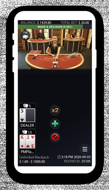 Live Unlimited Blackjack